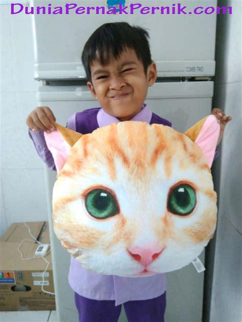 Bantal Kucing bantal kucing bantal lembut dengan wajah kucing imut