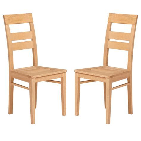 chaise de salle  manger bois naturel paula lot de  lestendancesfr