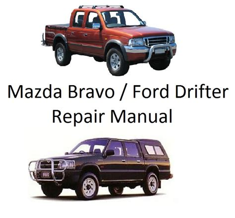 online auto repair manual 2001 mazda b series instrument cluster mazda bravo b2200 series repair manual