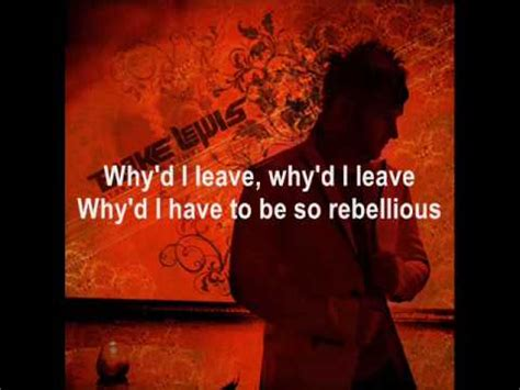 lewis rebel without a cause lewis rebel without a cause with lyrics