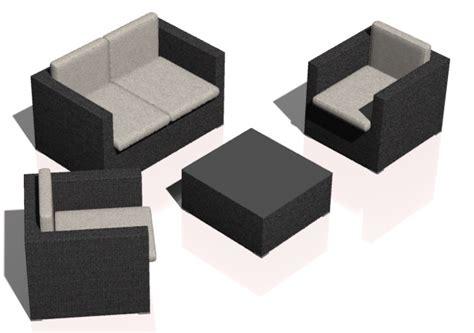 poltrone 3d salotti 3d divano con poltrone in polyrattan acca