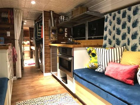 Tiny Home Floor Plans Free by Big Bertha Is Modern Bus Conversion That S Home