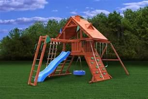 gorilla playsets sun palace ii kids outdoor wooden playset