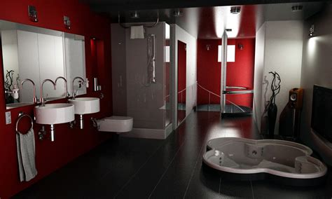 black and red bathroom decor 16 designer bathrooms for inspiration