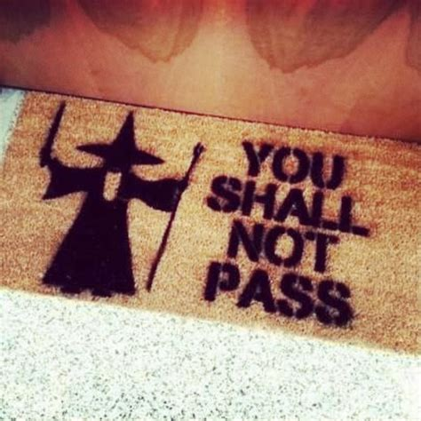 Lotr Doormat by Scarf You Shall Not Pass Gandolf The Lord Of The Rings