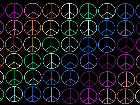 rainbow peace sign wallpaper www imgkid the image