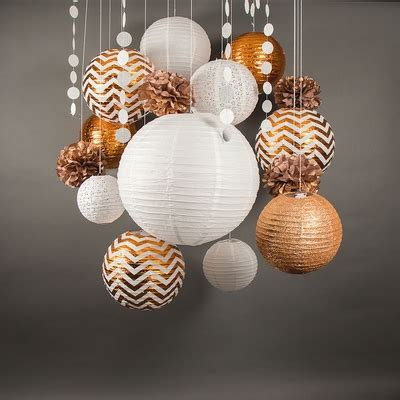 new year pack lanterns 14 pc copper white new year s celebration pack