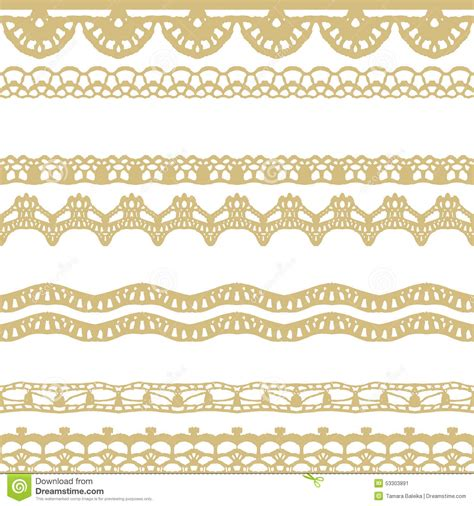 gold lace pattern white and gold lace seamless stripes pattern stock vector