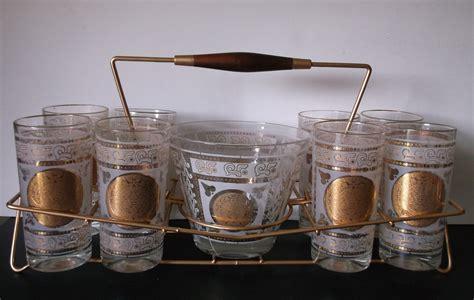 barware sets vintage aztec sun barware set mid century modern tumblers
