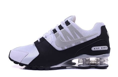 sports shoes nz nike shox nz white black silver s athletic running