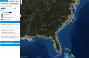 interactive map of coastal flooding impacts from sea level