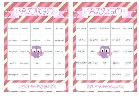 Baby Shower Bingo Card Generator by Free Baby Shower Bingo Cards My Practical Baby Shower Guide