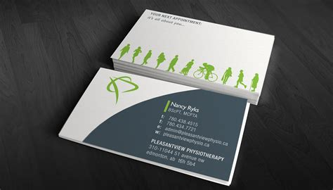 physio business card template physiotherapy business card design ideas sles