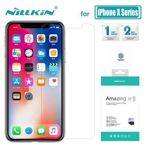 nillkin for iphone xs max xr x glass amazing 9h h pro tempered glass screen protector for