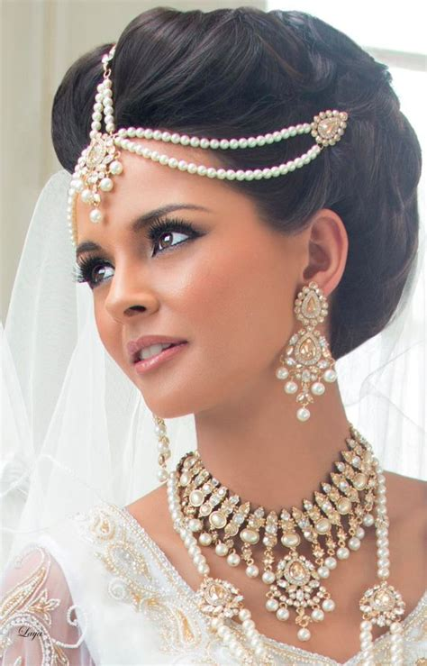 Wedding Hairstyles With Jewelry by Indian Laya Novias Brides Search