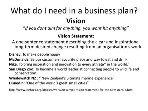 sle business plan vision statement business planning presentation to dunedin host 4 march 2014