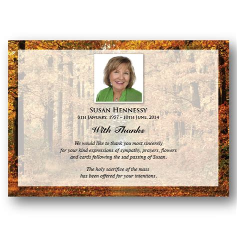 Funeral Acknowledgement Cards Template by Acknowledgement Card Ack017 Island Memorial Cards