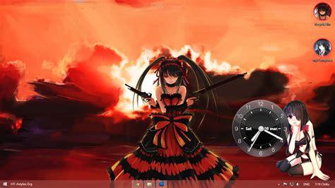 themes for windows 8 1 anime visual styles 8 theme anime win8 tokisaki kurumi by