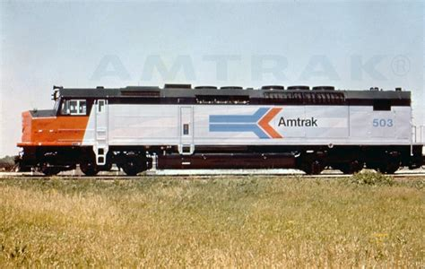 amtrak 1970 s sdp40f locomotive no 503 1970s amtrak history of