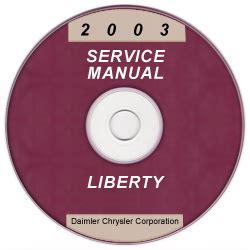2003 Jeep Liberty Owners Manual 2003 Jeep Liberty Service Manual Cd Rom