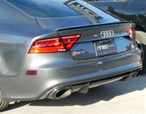 2010 2014 audi a7 s7 rs7 style rear trunk lip