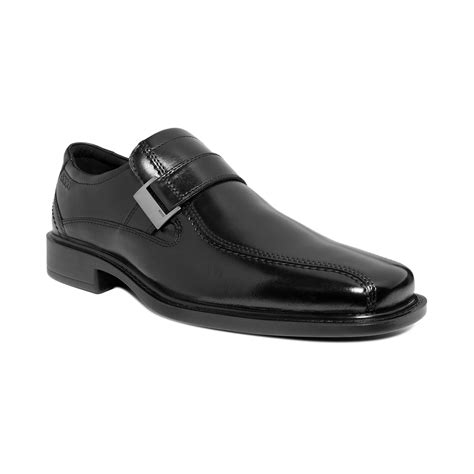 ecco slip on loafer ecco new jersey slip on buckle loafers in black for lyst