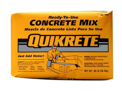 how does it take for mortar to quikrete packaged concrete center of va www