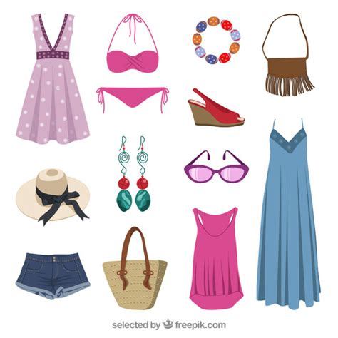 summer clothes summer clothes vector free