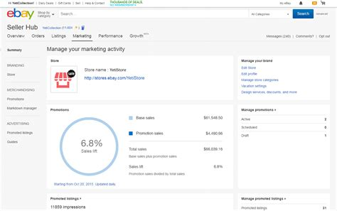 ebay owner seller hub