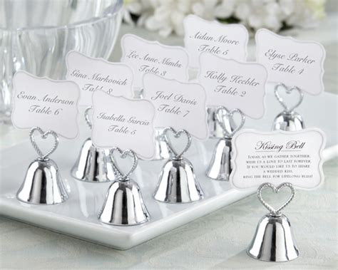 Wedding Favors Bells by Silver Bell Place Card Holder Bells