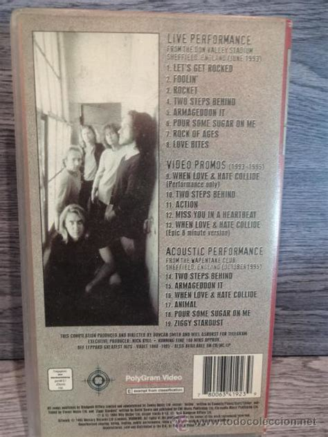 Vhs Def Leppard Archive def leppard archive 1993 1995 vhs pol comprar v 237 deos musicales vhs y dvd en