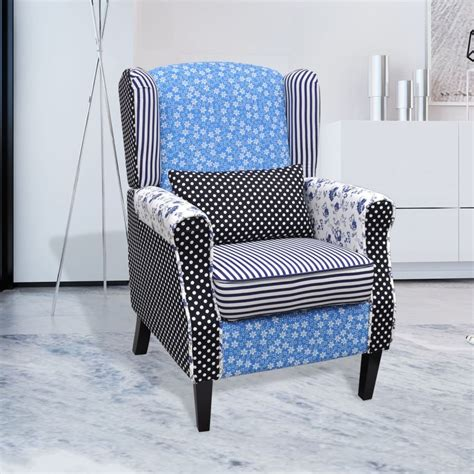 patchwork relax armchair country living style vidaxl