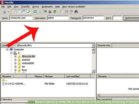 upload images html how to upload an html file to your server in order to