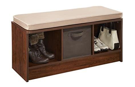 closetmaid bench cushion closetmaid 1309 cubeicals 3 cube bench dark cherry