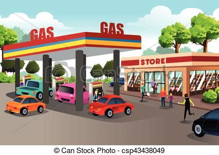 gas station clip art and stock illustrations 6900 gas a vector illustration of people at gas station and eps