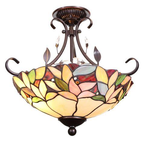 dale tiffany ceiling fan dale tiffany crystal leaf 2 light antique bronze semi