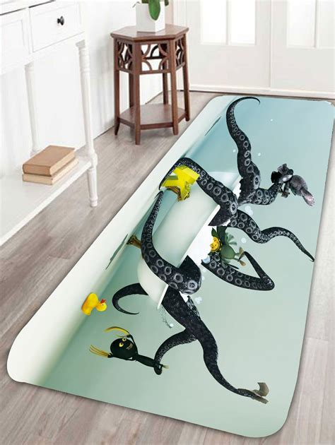 octopus in bathtub octopus in bathtub coral fleece bath rug in colorful w16