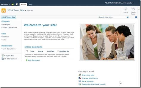 From The Mvps Changes To The Team Site Template In Sharepoint Team Site Template
