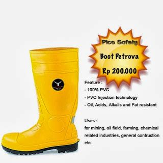 Sepatu Safety Petrova sepatu boot safety pvc boot safety