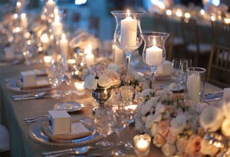 table centerpieces with candles decorate your wedding reception in italy stylish floral