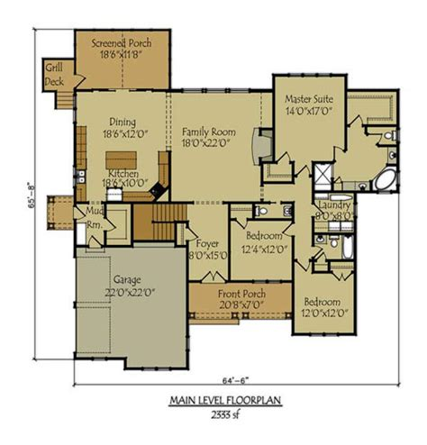 bungalow floor plans with walkout basement craftsman style lake house plan with walkout basement