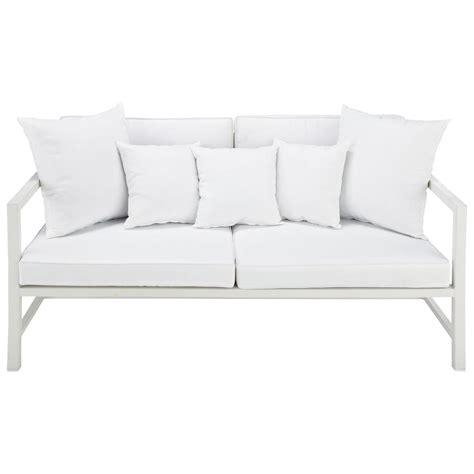 divanetto da giardino divanetto da giardino bianco 2 posti in alluminio ithaque