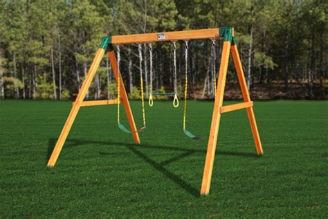 timber swing set plans home swing set paradise