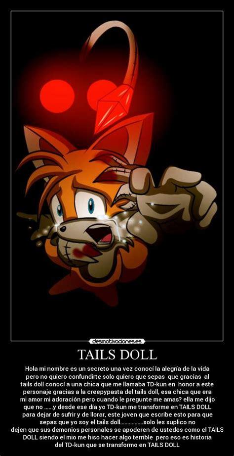 Tails Doll Meme - carteles tailsdoll creepypasta desmotivaciones memes