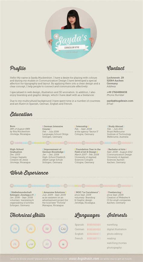 fantastic exles of creative resume designs