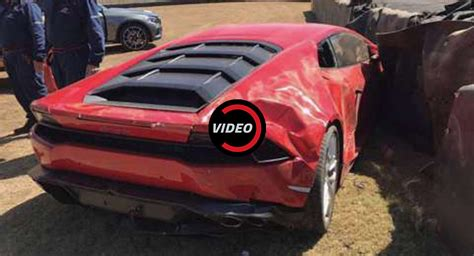 lamborghini crash lamborghini huracan crashes at the south festival