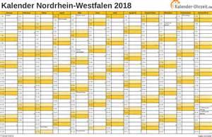 Kalender 2018 Nrw Kalenderwochen Feiertage 2018 Nordrhein Westfalen Kalender