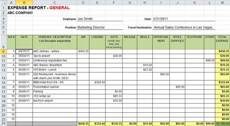 excel template expenses calendar monthly printable