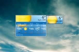 Small Desktop Weather Widget Msn Weather Windows Weather Gadget