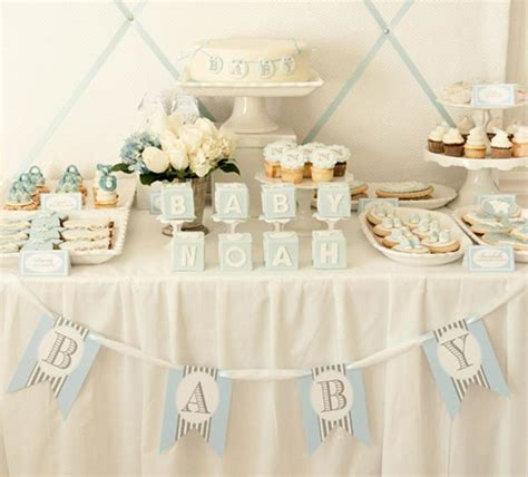 table for baby shower baby boy dessert table baby shower baby shower ideas